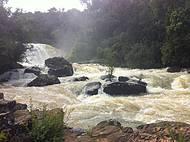 Na parte de baixo,mais pr�ximo da cachoeira, maravilhoso!
