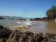 Recifes na praia do Morro do Careca.