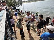 dia de pescaria no Parque/ liberado para comunidade com premiações