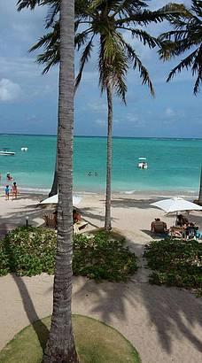 Vista do resort para o mar.