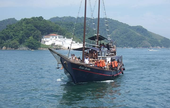 Schooner  Trip on Lady Linda Around The Bay of Santos & Port