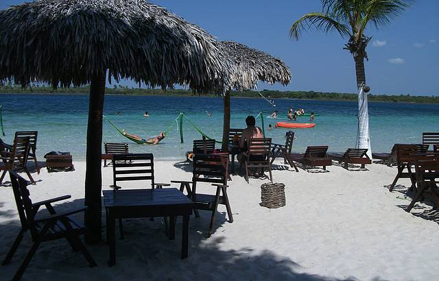 Restaurante Chez Loran na lagoa do Paraíso