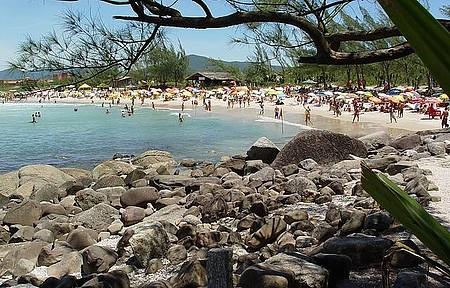 Garopaba - Praia da Ferrugem é point dia e noite na alta estação