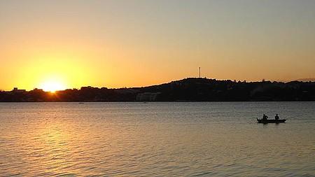 Lagoa Central - Lindo por do Sol