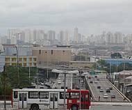 Belíssima vista panorâmica de São Paulo, vista da Libertade