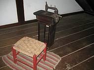 Alguns objetos no interior da casa