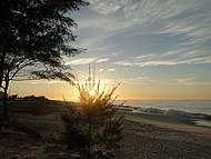 Nascer do sol em uma linda praia
