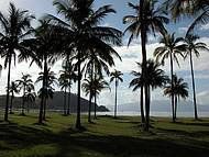 Praia do Centro é utilizado para caminhadas e passeios de bicicleta