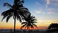 Pôr do sol da praia da Barra