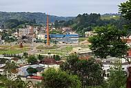 Vista panorâmica do centro da cidade.