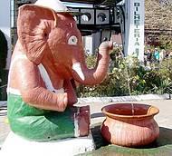 Em frente à bilheteria. O clássico elefantinho.