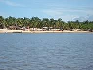 Vista da Praia do Gunga no passeio de barco...