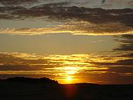 Pôr-do-Sol, visto da pousada Aruanã