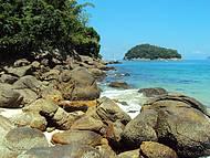 Um dos cantos da ilha