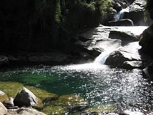 Itaporani: Queda d'água é um dos destaques do parque<br>