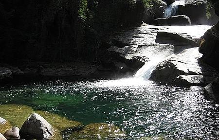 Itaporani - Queda d'água é um dos destaques do parque