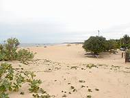 Vista da praia a partir da Pousada Arte do Velejo.
