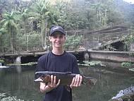 Pescaria de trutas � uma das atra��es