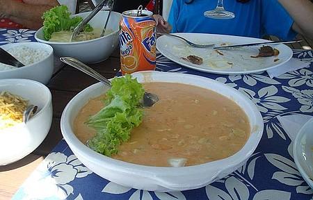 Restaurante da Pousada Mauna Lani - Strogonof do Dirceu. Uma delícia!