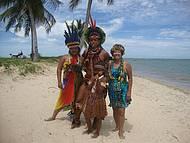 Índios Pataxós em Coroa Vermelha