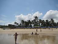 Praia ideal para banho.