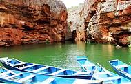 As águas do Velho Chico no Canion de Xingó em Sergipe