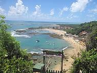Descida de tirolesa e a linda vista das 1°e 2° praia do Morro.