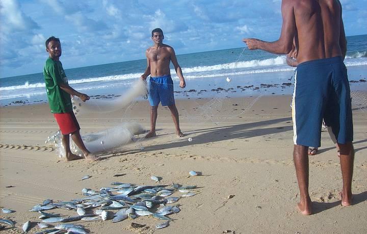Pescadores na Praia