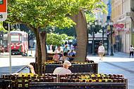 Curitiba para todos, no calçadão da Rua XV, também conhecida Rua das Flores.