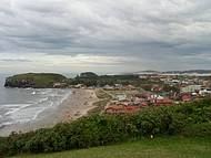 Vista da praia da Cal