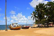 Praia do Forte - tem Projeto Tamar para conferir. Uma linda paisagem.