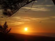 Lindo amanhecer na praia de itaipuaçu