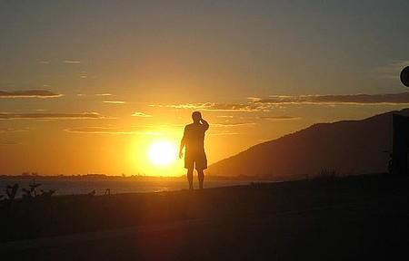 Praia do Cemitério - Fotografando o pôr do sol
