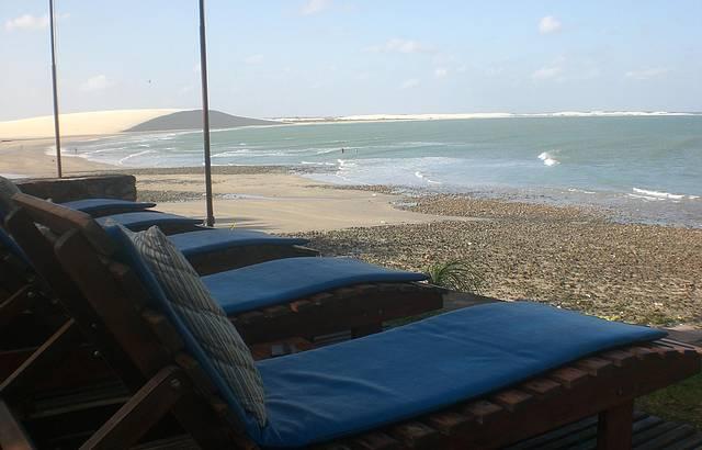 Vista da pousada para praia e duna