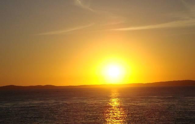 Um belo pôr do sol!