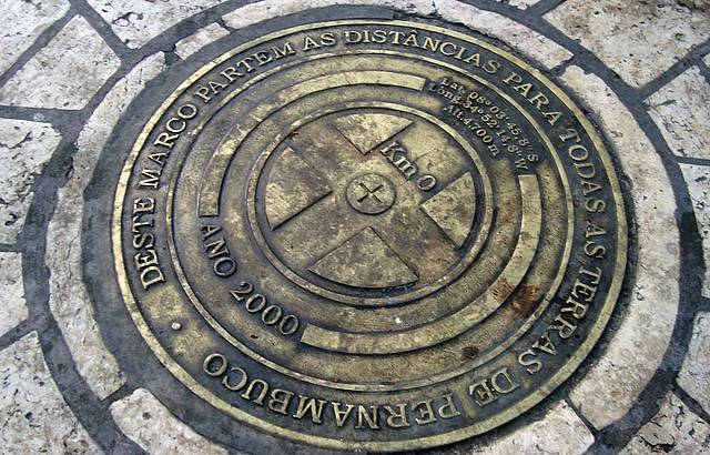 Deste Marco Zero parte as distâncias para todas as terras de Pernanbuco