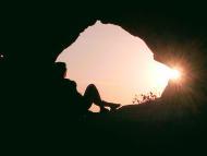 Por do sol Magnifico na Pedra Furada