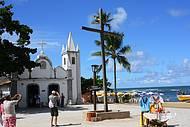 Praia do Forte - Igrejinha de S�o Francisco, junto a praia, muito bonito!