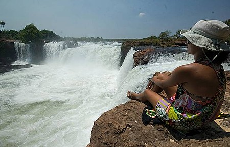 Cachoeira da Velha - Quedas formam visual que impressiona os visitantes