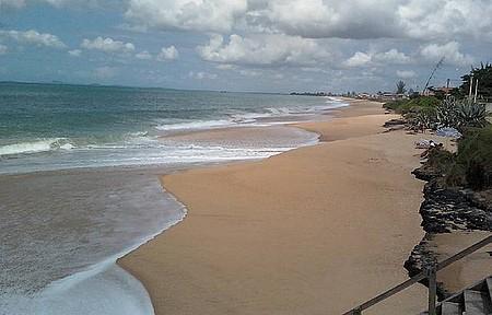 Fim de tarde na praia do Abricó