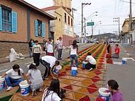 Festas de Agosto-Confecção de Tapetes