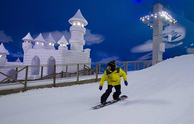 Snowboard é uma das atrações