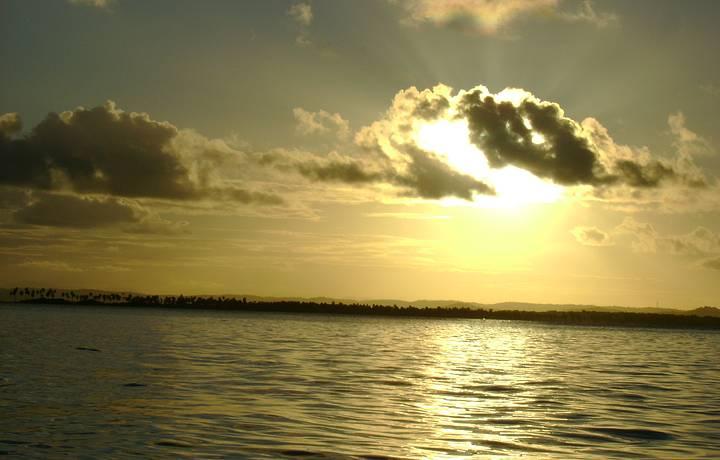 Pôr-do-Sol na Volta do Passeio a Gamboa