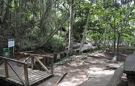 Poço Escuro - Trilhas são as principais atrações da área verde