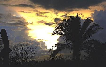 Proximidades do aeroporto - Pôr do Sol