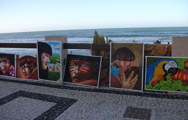 Arte no cal�ad�o de Ponta Negra
