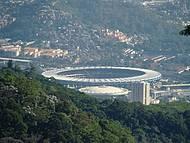 Vista do Estádio do Maracanã, no Rio de Janeiro