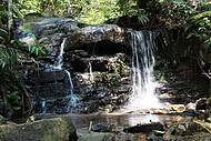 Belas quedas enfeitam as trilhas pela Fazenda Serra do Japi
