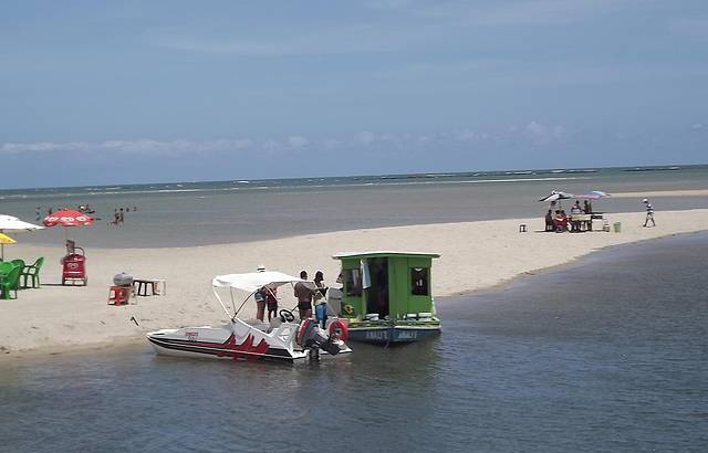 Bancos de Areia na Praia de Carneiros