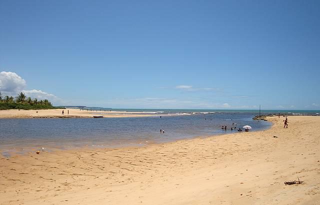 Rio Caraíva na maré baixa. Lindo!